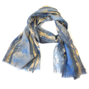 Soundings Blue Wool Long Scarf