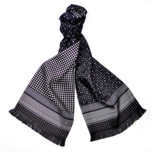 Dapper Mono Long Silk Scarf