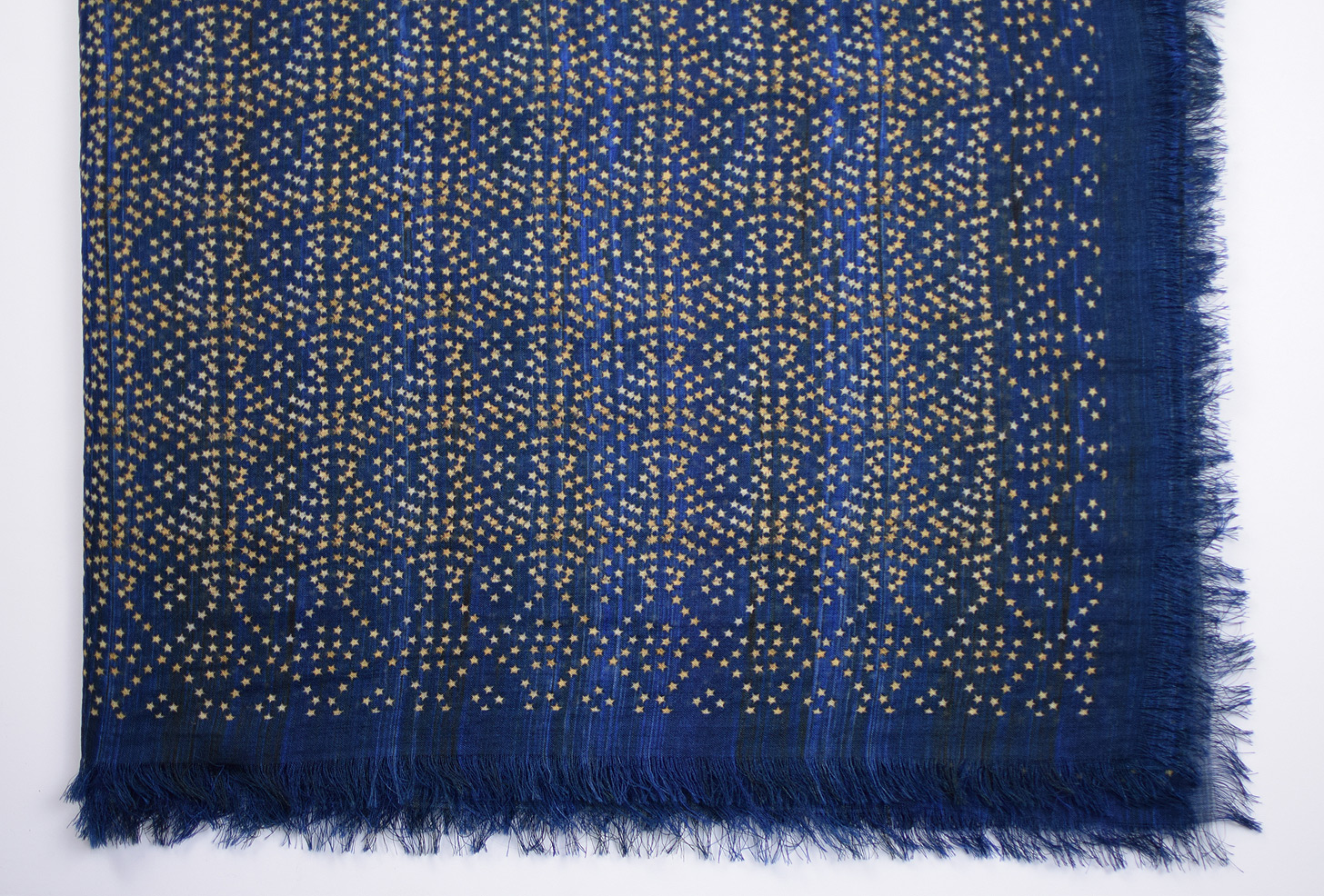 Faded Star Indigo Wool Wrap