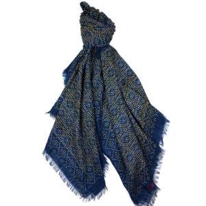 Faded Star Indigo Wool Wrap