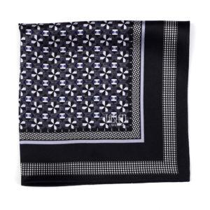 Dapper Mono Silk Pocket Square
