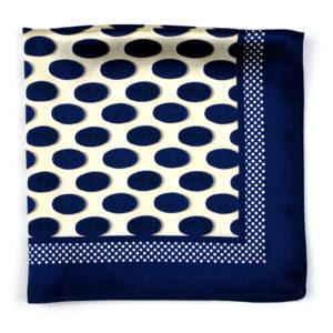 Eclipse Spot Blue Silk Pocket Square