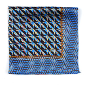 Havana Blue Silk Pocket Square